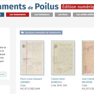 Edition des testaments de Poilus